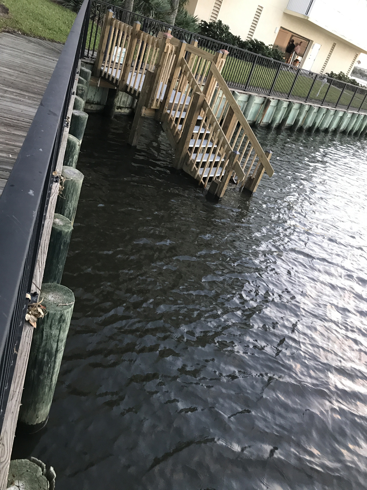 Stairs from boardwalk to river - great for launching paddle board, kayak, or canoe